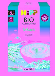 Hipp organic cereal porridge five-grain from the 6th month, 200g