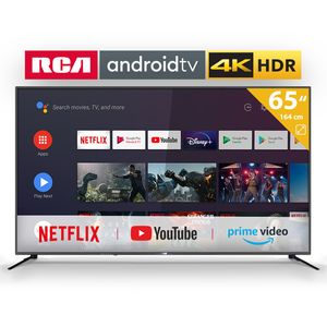 RCA RS65U2 Android TV (65 Zoll 4K Smart TV mit Google Assistant), eingebauten Chromecast, HDMI+USB, Triple Tuner, 60Hz