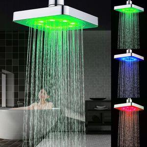 Duschköpf Duschbrause Brausekopf Duschkopf Dusche Beleuchtet mit LED-Technik Farbwechsel@#