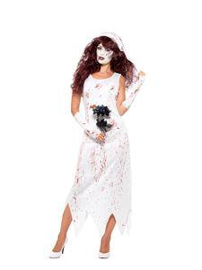 Damen Kostüm Zombie Braut Zombiekostüm Halloween Gr.XS