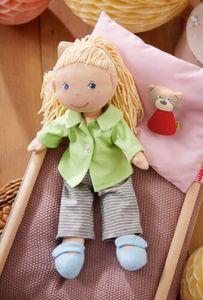 HABA Kleiderset Gute Nacht, Puppenkleidung für 30 cm Puppen, 3-tlg., Baumwolle, Polyester, 305980