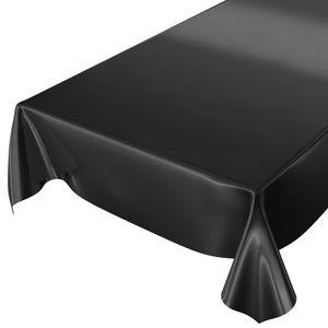 Uni Schwarz Einfarbig 200x140cm Wachstuch Tischdecke