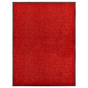 anlund Fußmatte Waschbar Rot 90x120 cm