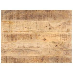 vidaXL Tischplatte Massivholz Mango 25-27 mm 70x60 cm