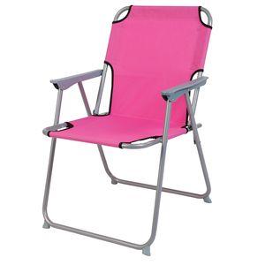 Campingstuhl Stoff Oxfort Metall Pink