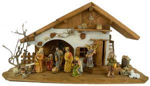 Festliche Weihnachtskrippe Basel inkl. 12-tlg. Figurensatz K 650-9