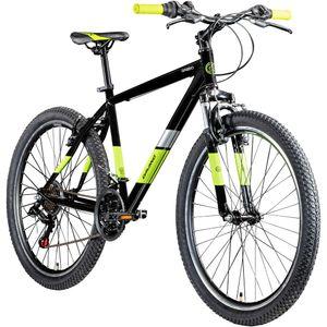 Galano GA260 26 Zoll Mountainbike Hardtail MTB Fahrrad 21 Gang Mountain Bike, Farbe:schwarz/grün, Rahmengröße:46 cm