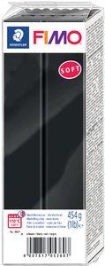 FIMO SOFT Modelliermasse ofenhärtend schwarz 454 g