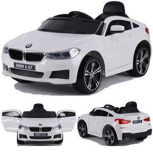 BMW GT 640i SUV Kinderauto Kinderfahrzeug Kinder Elektroauto mit Türen 12V 2x Motoren Weiss