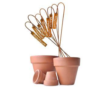 Pflanzenschilder 7er Set aus Eisen Kräuterschilder