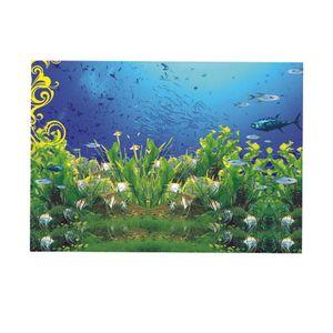 Einseitiges Aquarium Hintergrund Plakat Aquarium Wand Hintergrund Bild Größe XXL