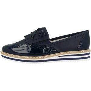 Rieker Damen Slipper Blau, Schuhgröße:EUR 41