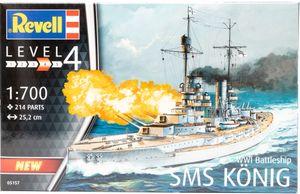 Revell 05157 Modellbausatz WWI Battleship SMS König Schiff Kriegsschiff 1:700