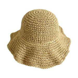 Damen Strohhut Sonnenhut Sommerhut faltbare Hut großen Strandhut Schlapphut