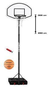 Hudora 71627 Basketballständer Hornet 305 mit Ball und Pumpe