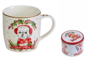 Tasse mit Box Dogs Porzellan 350 ml