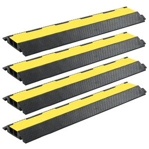 vidaXL Kabelbrücken Überfahrschutz 4 Stk. 2 Kanäle Gummi 101,5 cm