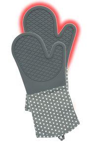Topfhandschuhe Silikon Grau