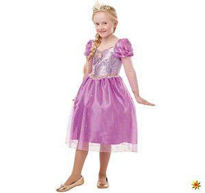 Kinder Kostüm Disney Rapunzel Märchen Prinzessin, Größe:S (3-4 Jahre)