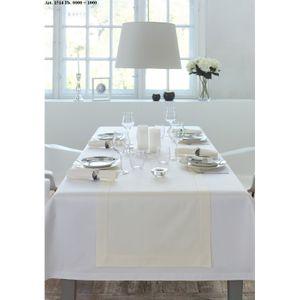 Curt Bauer Tischwäsche Tischdecken Dessin 1514 Gent, Weiß mit Hohlsaum 130 x 170 cm