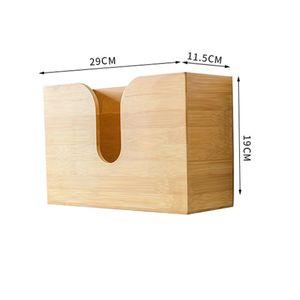Bambus Taschentuchspender Kosmetiktücher Kosmetiktücherbox Tücherbox Kosmetikbox, 19*29*11,5cm