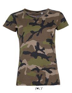Womens Camo / Tarn Damen T-Shirt - Farbe: Camo - Größe: XL