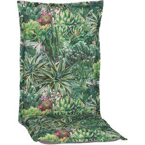 Gartenstuhl-Auflage Nizza – Hochlehnerauflage für Gartenstühle, Dessin:Kaktus, Anzahl:1x