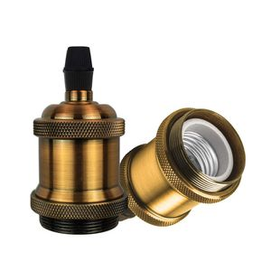 Vintage Edison E26/E27 Lampenfassung Antique Deckenfassung Hängelampe Fassung Lampenfuss Lampen Sockel, Gold