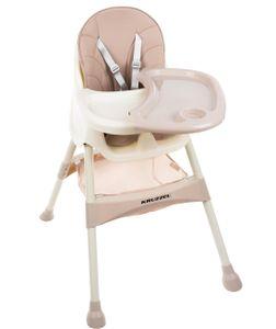 Hochstuhl für Babys Verstellbar Klappbar Tisch 5-Punkt Gurt 12060, Farbe:Rosa/ pink