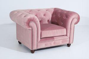 Max Winzer Orleans Sessel - Farbe: rosé - Maße: 135 cm x 100 cm x 77 cm; 2911-1100-2044206-F07