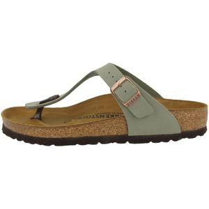 BIRKENSTOCK Gizeh Damen Zehentrenner Grau Schuhe, Größe:40