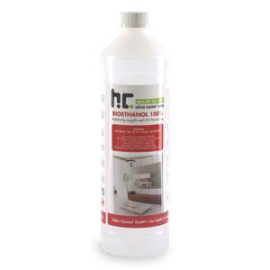 6 x 1 Liter Bioethanol Hochrein 100 % in Flaschen für Edelstahl-Tisch-Kamine