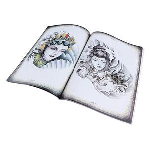 70 Seiten Chinesische Design Tattoo Buch, Tang-Dynastie Charakter Skizze