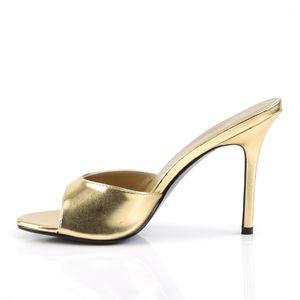 Pleaser CLASSIQUE-01 Sandaletten gold, Größe:EU-37 / US-7 / UK-4