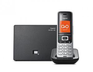 Gigaset S850A GO Schnurlostelefon mit Anrufbeantworter platin schwarz