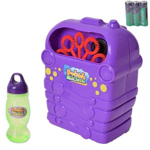 TE-Trend Seifenblasenmaschine Bubble Machine Seifenblasen Maschine Hochzeit Kinder Outdoor Garten Party Spaß Batterie Lila