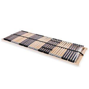Home® Komfort Lattenrost,Rollrost,Hochwertiger Extra starker,Rolllattenrost, mit 42 Latten 7 Zonen 90 x 200 cm🌹6752