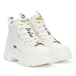 Buffalo Aspha Nc - Lace Up Sneaker - Weiß Kunstleder Größe: 39 Normal
