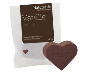 RUCK® Naturseife Herzform 40g - VANILLE