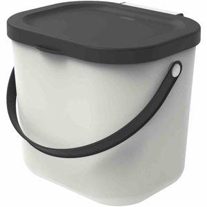 Rotho 103-0301023 Albula Recycling Müllsystem 6 L, mistletoe white