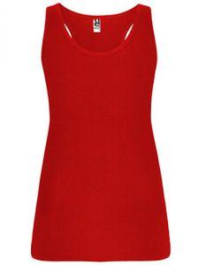 Damen Brenda Tank Top, Single Jersey - Farbe: Red 60 - Größe: XXL