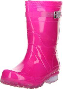 G&G Kinder Mädchen wasserdichte Gummistiefel Regenschuhe pink, Größe:34, Farbe:Pink