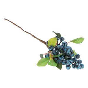 Kunststoff Künstliche Gefälschte Pflanzen Früchte Beeren Zweige Home Cafe Nachbildung Blau Farbe Blau