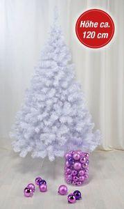 Künstlicher Weihnachtsbaum weiß 120 cm