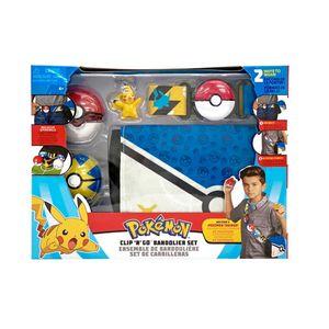 Pokemon Clip N Go Bandolier Set + Pikachu Actionfigur Serie 1