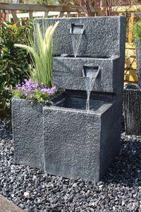 Springbrunnen Grada bepflanzbar Gartenbrunnen beleuchtet Wasserspiel