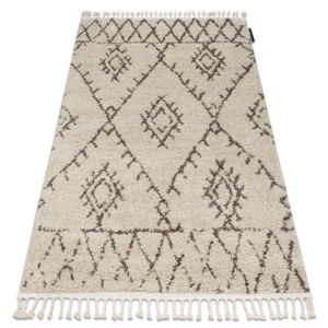 Teppich BERBER FEZ G0535 sahne / braun Franse berber marokkanisch shaggy zottig creme 120x170 cm