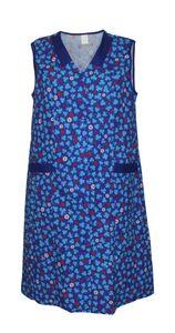 Damenkittel Baumwolle Hauskleid ohne Arm Kittel Schürze  bunt, Größe:64, Modell:Modell 1