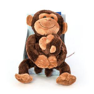 Laber-Affe mit Baby / Nachsprechender Plüsch-Affemit Aufnahme- und Wiedergabef.