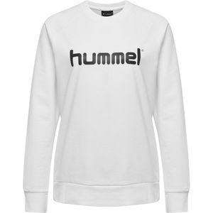 hummel hmlGO Baumwoll Logo Sweatshirt Damen white L